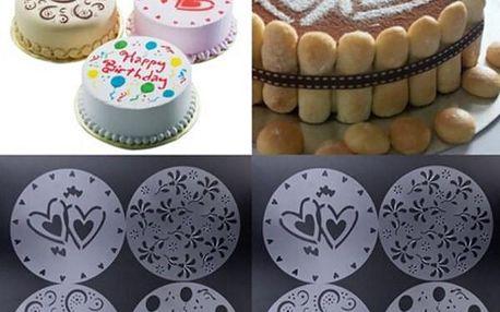 Šablony na dort - 4 kusy