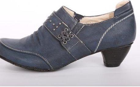 Elegantní dámské boty na podpatku BLUE