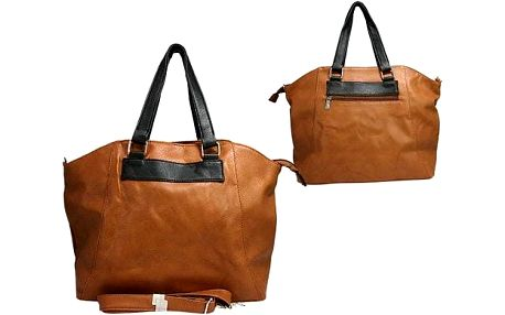 Dámská kabelka Paul Rossi Shopper hnědá + černá
