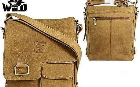 Pánská taška z pravé kůže LB143-H Yellow