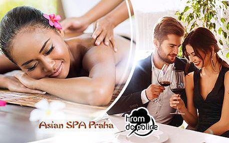 Romantický večer pro dva - 3chodová večeře + thajská masáž v Asian SPA