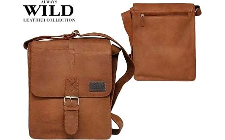 Pánská kožená taška Listonoš NZ-721-SH wild tan
