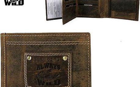 Pánská peněženka z pravé kůže N992-H-BTB NAP