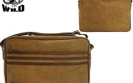 Pánská taška z pravé kůže LB-233-H Yellow