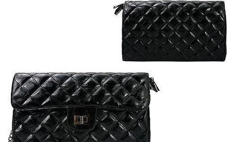 Malá dámská prošívaná kabelka CALVADI černá