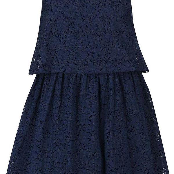 Tmavě modré krajkové šaty name it Glok