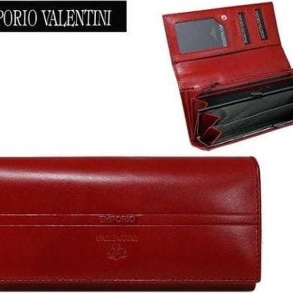 Dámská peněženka z pravé kůže EMPORIO VALENTINI ROSSO