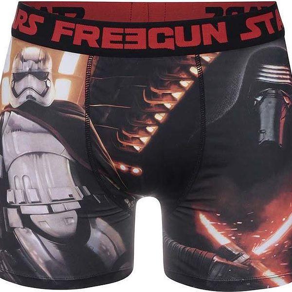 Červeno-černé boxerky s postavami Star Wars Freegun
