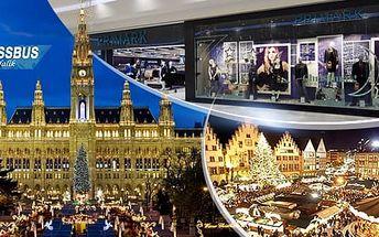 Adventní Vídeň a Primark: sobotní zájezd za poznáním a nákupy pro 1 osobu autobusem z Brna