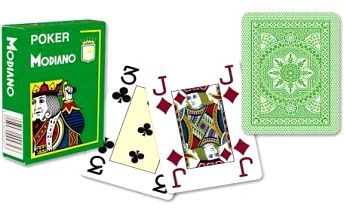 Modiano 4 rohy 100% plastové karty - Světle zelené