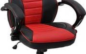 Kancelářská židle Hawaj racing Deluxe červeno-černá