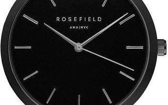 Dámské hodinky Rosefield - The Mercer, černé/černé - doprava zdarma!