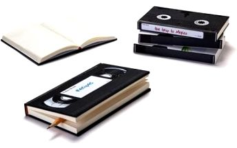 Retro zápisník VHS kazeta