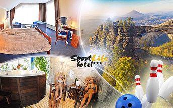 České Švýcarsko na 2 až 8 dní pro 2 osoby: polopenze, sauna, bowling, squash, tenis a další