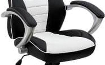 Kancelářská židle Hawaj® racing Deluxe bílo-černá