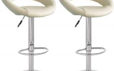 2x Barová židle Hawaj CL-3230 (krémová)