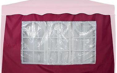 Boční stěna s trojdílným oknem - 3x3m - vínová