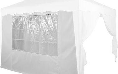 Boční stěna s trojdílným oknem - 3x3m - bílá