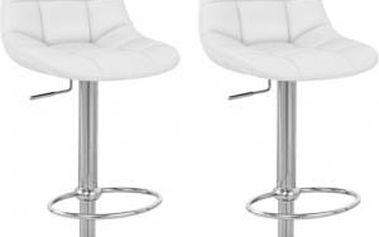 2x Barová židle Hawaj CL-8023 (bílá)