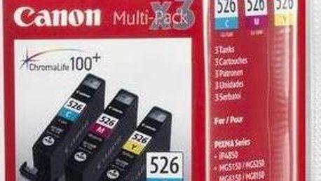 Inkoustová náplň Canon CLI-526 C/M/Y, 340 stran - originální (4541B006) červená/modrá/žlutá