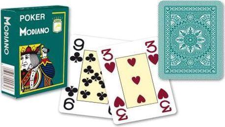 Modiano 4188 Modiano 4 rohy 100% plastové karty - Zelené