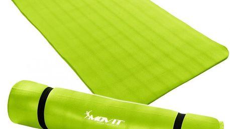 Gymnastická podložkaMOVIT 190 x 100 x 1,5 cm sv. zelená