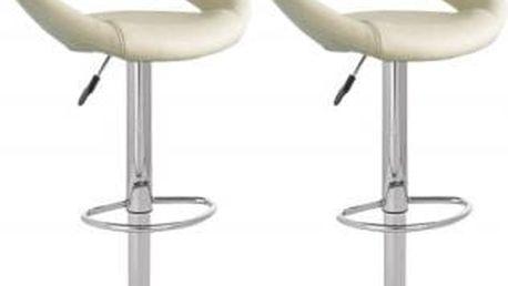 2x Barová židle Signal Krokus C-300 (krémová)
