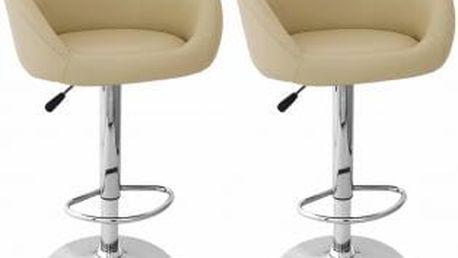 2x Barová židle Martina (krémová)
