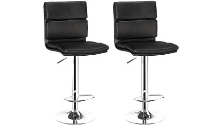 2x Barová židle CL-7006-2 BK (černá)