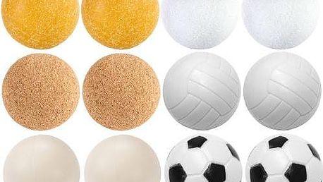 Exkluzivní sada 12 míčků ke stolnímu fotbálku - různé materiály, 35 mm