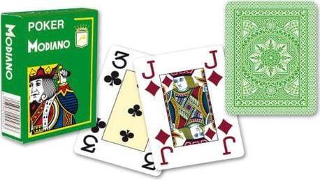 Modiano 31300 Modiano 4 rohy 100% plastové karty - Světle zelené