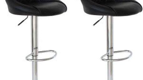 2x Barová židle CL-3235 BK (černá)