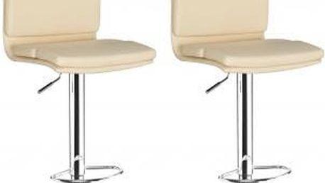 2x Barová židle CL-7006-2 BG (krémová)