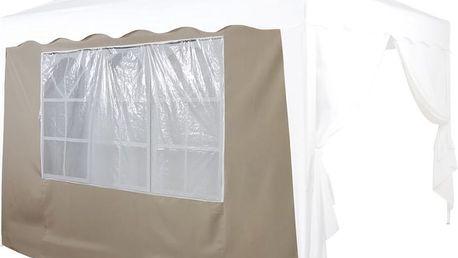 Náhradní boční stěna ke stanu s oknem - béžová