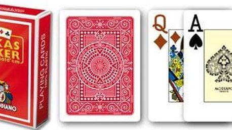 Modiano 2 rohy 100% plastové karty - Červené