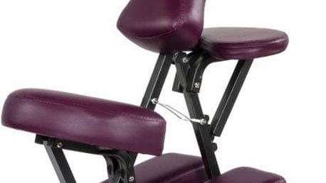 Masážní židle Movit skládací vínová 8,5 kg