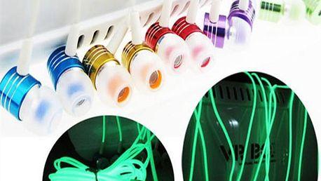 Špuntová sluchátka svítící ve tmě - více barev - poštovné zdarma