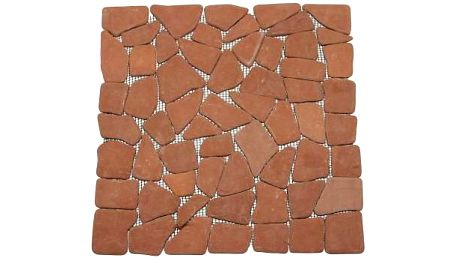 Mramorová mozaika Garth- červená / terakota obklady 1 m2