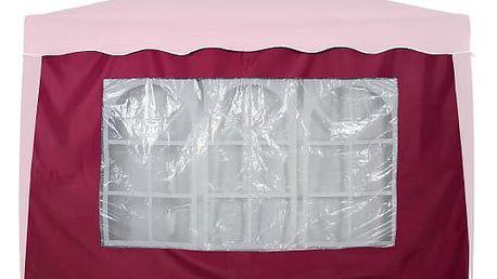 Tuin 6369 Boční stěna s trojdílným oknem - 3x3m - vínová
