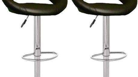 2x Barová židle H-15 (hnědá)
