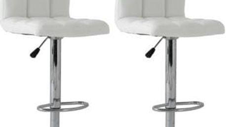 2x Barová židle Signal Krokus C-105 (bílá)