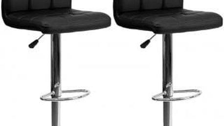 2x Barová židle CL-3232-1 BK (černá)