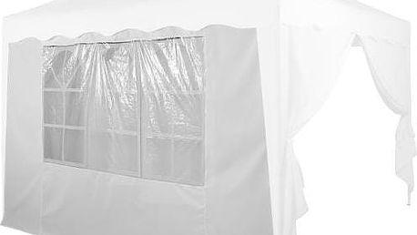 Tuin 6366 Boční stěna s trojdílným oknem - 3x3m - bílá