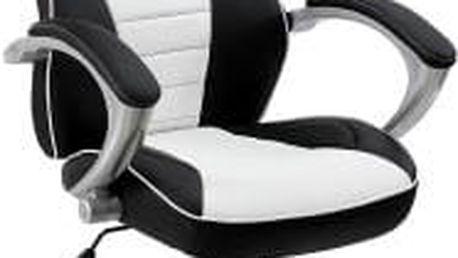Kancelářská židle Hawaj racing Deluxe bílo-černá