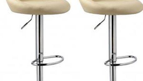 2x Barová židle CL-3235 BG (krémová)