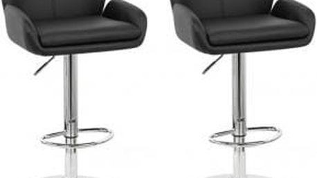 2x Barová židle CL-3335-2 BK (černá)