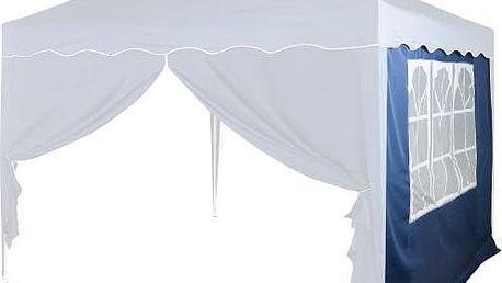 Tuin 6367 Boční stěna s trojdílným oknem - 3x3m - modrý