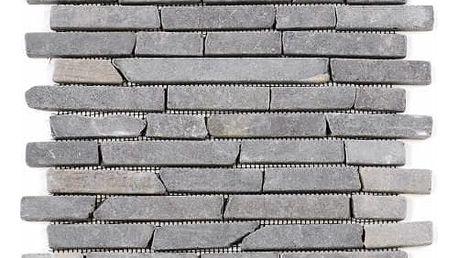 Divero 24758 Mramorová mozaika Garth - šedá obklady - 1x síťka