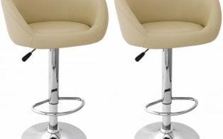 2x Barová židle Hawaj CL-7010   krémová