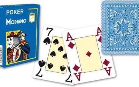 Modiano 4 rohy 100% plastové karty - Světle modré